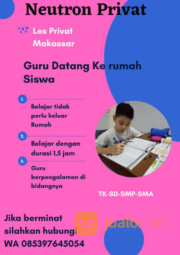Les Privat Makassar WA 085397645054 (30438412) di Kota Makassar