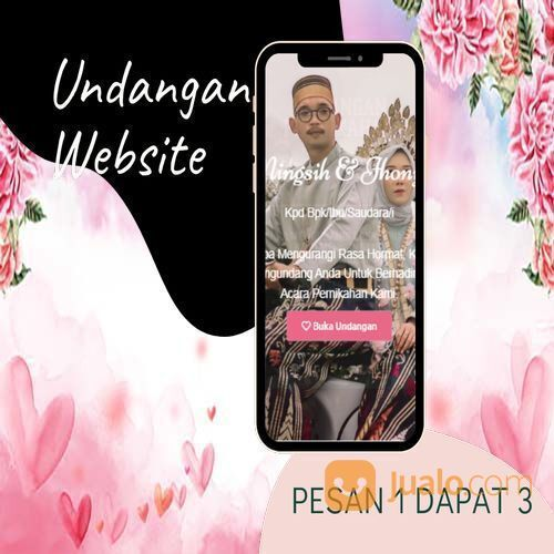 Undangan D I G I T A L Pernikahan Video W E B S I T E Buy 1 Get 3 (30518395) di Kota Bandung