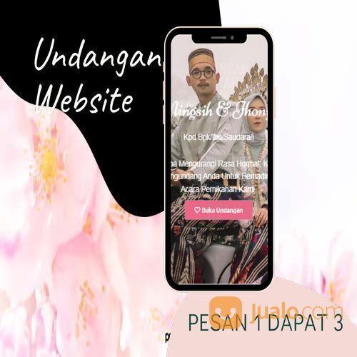 Undangan D I G I T A L Pernikahan Video W E B S I T E Buy 1 Get 3 (30518399) di Kota Bandung