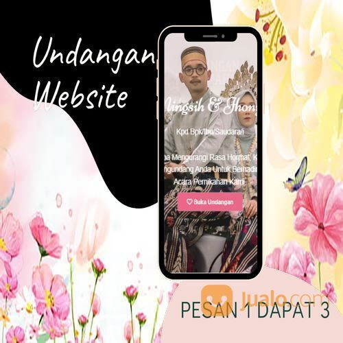 Undangan D I G I T A L Pernikahan Video W E B S I T E Buy 1 Get 3 (30518414) di Kota Bandung
