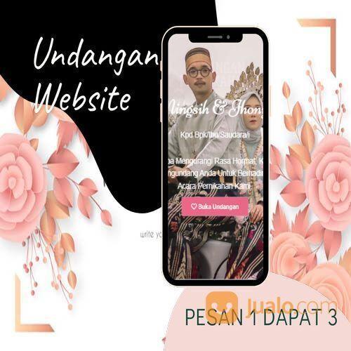 Undangan D I G I T A L Pernikahan Video W E B S I T E Buy 1 Get 3 (30518515) di Kota Bandung
