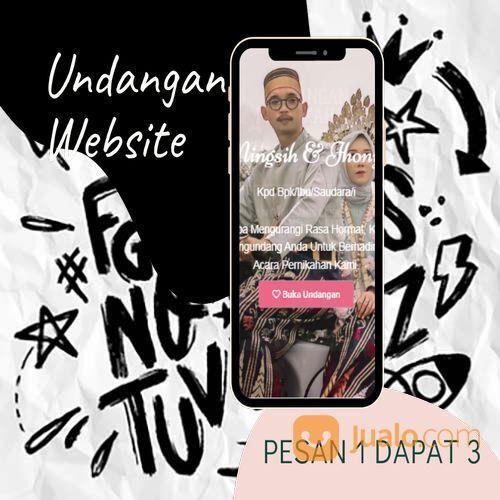 Undangan D I G I T A L Pernikahan Video W E B S I T E Buy 1 Get 3 (30518527) di Kota Bandung