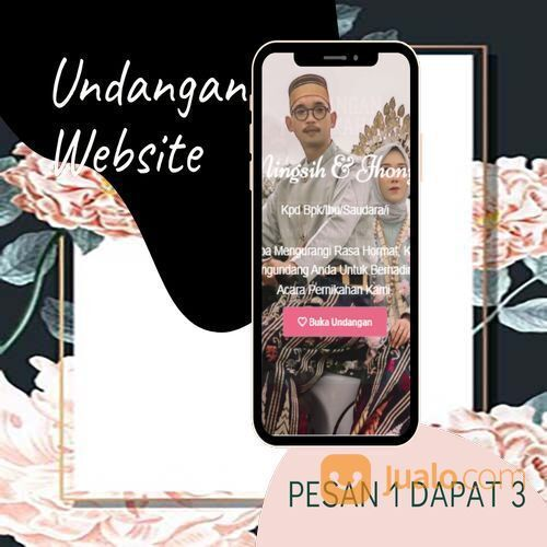 Undangan D I G I T A L Pernikahan Video W E B S I T E Buy 1 Get 3 (30518633) di Kota Bandung