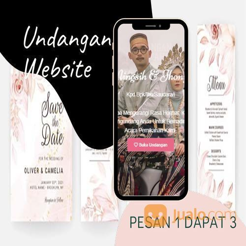 Undangan D I G I T A L Pernikahan Video W E B S I T E Buy 1 Get 3 (30518649) di Kota Bandung