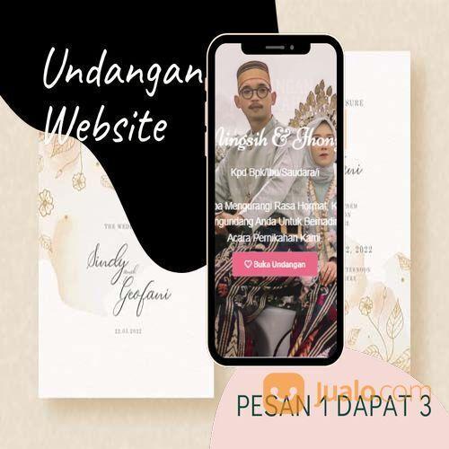 Undangan D I G I T A L Pernikahan Video W E B S I T E Buy 1 Get 3 (30518663) di Kota Bandung