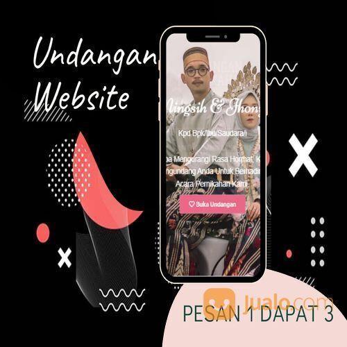 Undangan D I G I T A L Pernikahan Video W E B S I T E Buy 1 Get 3 (30518683) di Kota Bandung