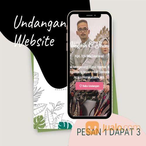 Undangan D I G I T A L Pernikahan Video W E B S I T E Buy 1 Get 3 (30518697) di Kota Bandung