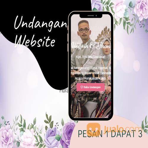 Undangan D I G I T A L Pernikahan Video W E B S I T E Buy 1 Get 3 (30518739) di Kota Bandung