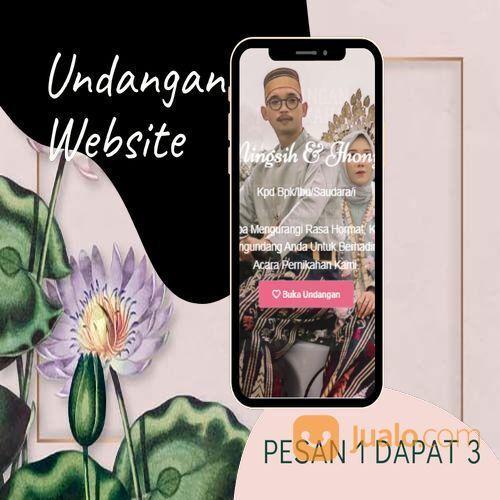 Undangan D I G I T A L Pernikahan Video W E B S I T E Buy 1 Get 3 (30518790) di Kota Bandung