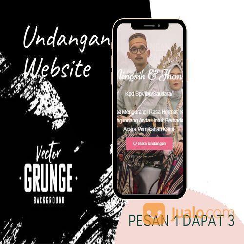 Undangan D I G I T A L Pernikahan Video W E B S I T E Buy 1 Get 3 (30518802) di Kota Bandung