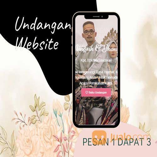 Undangan D I G I T A L Pernikahan Video W E B S I T E Buy 1 Get 3 (30518809) di Kota Bandung