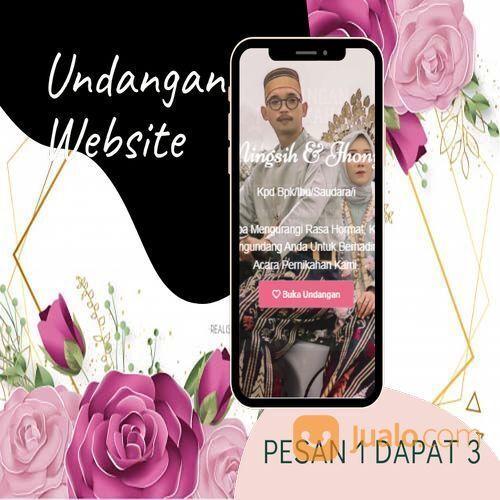 Undangan D I G I T A L Pernikahan Video W E B S I T E Buy 1 Get 3 (30518819) di Kota Bandung