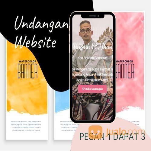 Undangan D I G I T A L Pernikahan Video W E B S I T E Buy 1 Get 3 (30518859) di Kota Bandung