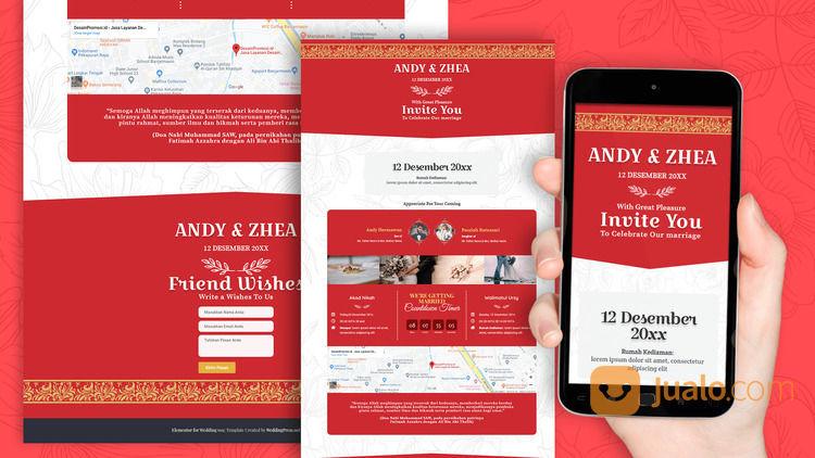 Undangan Pernikahan Digital Website Gratis Video (30556282) di Kota Bandung
