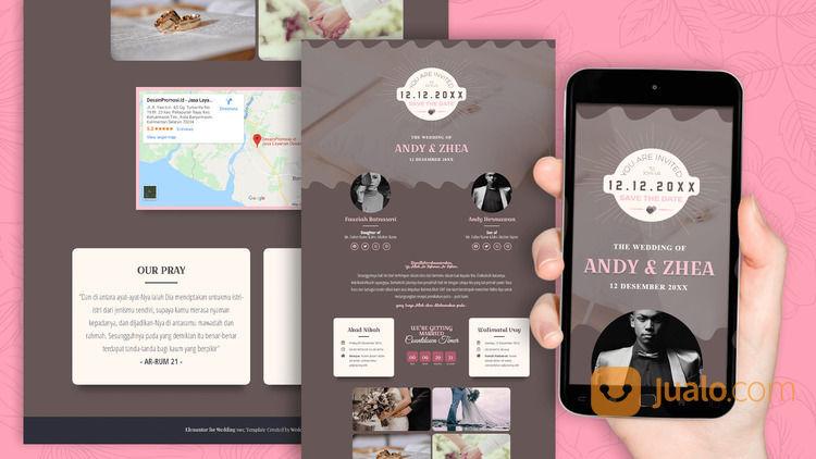 Undangan Pernikahan Website Gratis Video (30556635) di Kota Bandung
