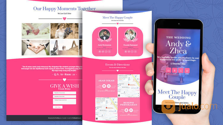 Undangan Pernikahan Digital Murah (30556776) di Kota Bandung