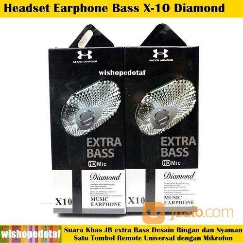 Terbaru X-10 Diamond Bass HQ Earphone Headset (30593796) di Kota Jakarta Timur