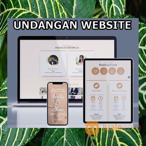 Undangan Pernikahan Mewah Website Gratis Video (30598516) di Kota Bandung