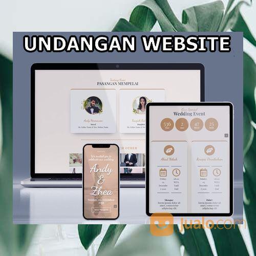 Undangan Pernikahan Digital Website Gratis Video (30598605) di Kota Bandung