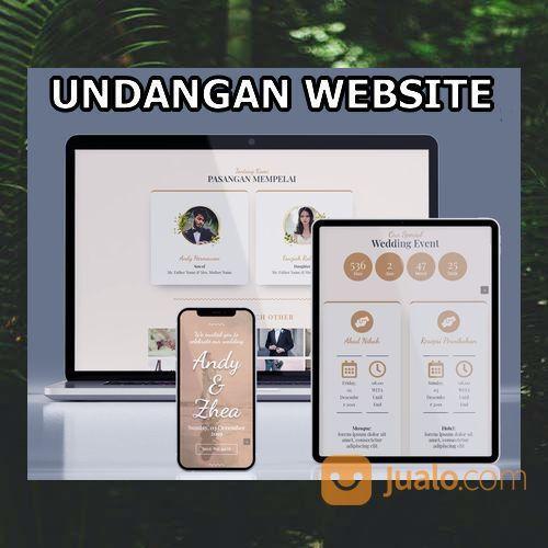 Undangan Pernikahan Digital Website Gratis Video (30599074) di Kota Bandung