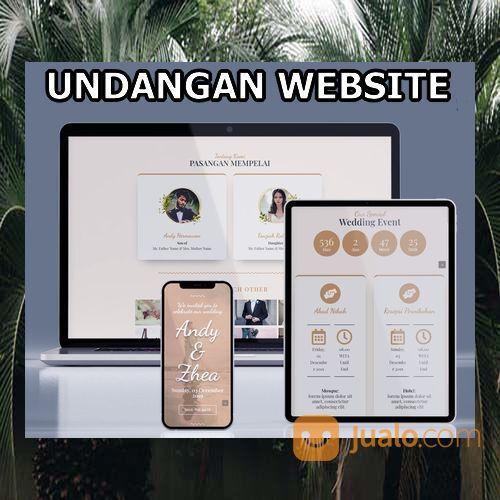 Undangan Pernikahan Digital Website Gratis Video (30599127) di Kota Bandung