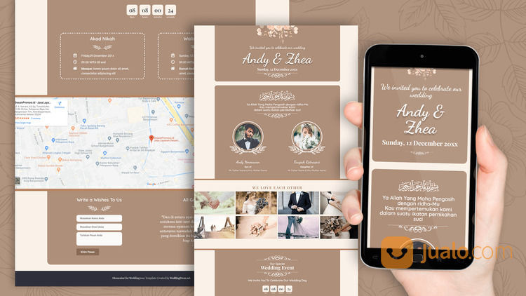 Undangan Pernikahan Digital Murah (30599136) di Kota Bandung