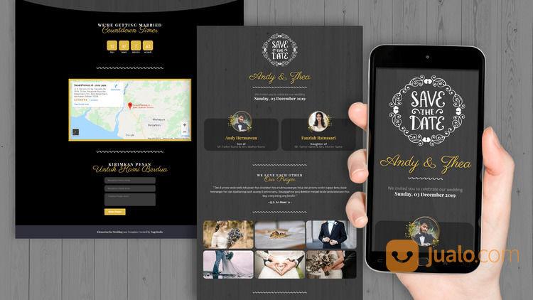 Undangan Pernikahan Digital Website Gratis Video (30599348) di Kota Bandung