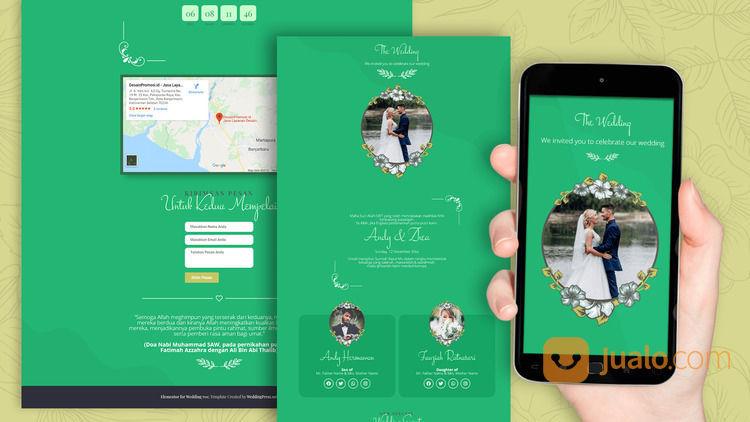 Undangan Pernikahan Digital Website Gratis Video (30711628) di Kota Bandung