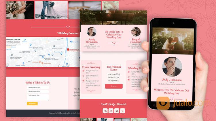 Undangan Pernikahan Unik & Murah Website Gratis Video (30712081) di Kota Bandung