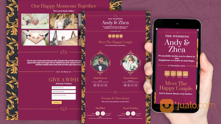 Undangan Pernikahan Unik & Murah Website Gratis Video (30712368) di Kota Bandung