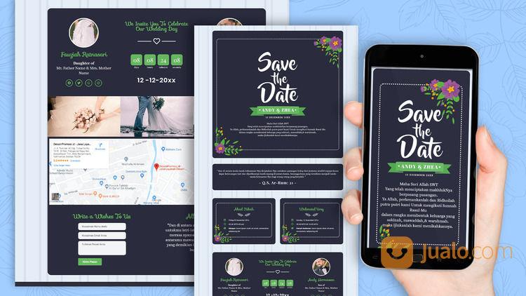 Undangan Pernikahan Unik & Murah Website Gratis Video (30712561) di Kota Bandung