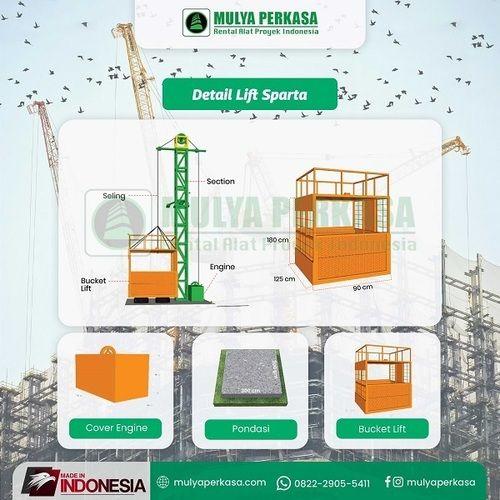 Sewa Lift Barang Sumenep   Sewa Lift Material Proyek (30801160) di Kab. Sumenep