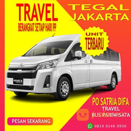 Bus Pariwisata Dan Travel Tegal Jakarta PO Satria Difa WA O819 O246 O930 (30822588) di Kota Tegal