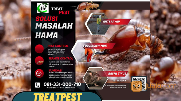 Jasa Anti Rayap Surabaya Sidoarjo Gresik Pasuruan Mojokerto (30846147) di Kota Surabaya
