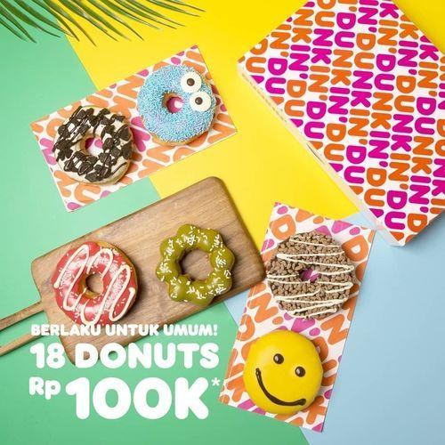 DUNKIN' 18 Donuts Classic cuma bayar Rp 100K* (30854086) di Kota Jakarta Selatan