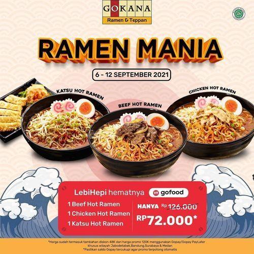 Gokana Ramen Teppan Promo Super Hot! 3 Hot Ramen hanya 72ribu! (30854324) di Kota Jakarta Selatan