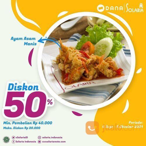 Solaria Dengan DANA kamu bisa mendapatkan voucher diskon 50% di Solaria loh (30856218) di Kota Jakarta Selatan