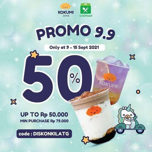 KOKUMI PROMO 9.9 diskon 50% (30927500) di Kota Jakarta Selatan