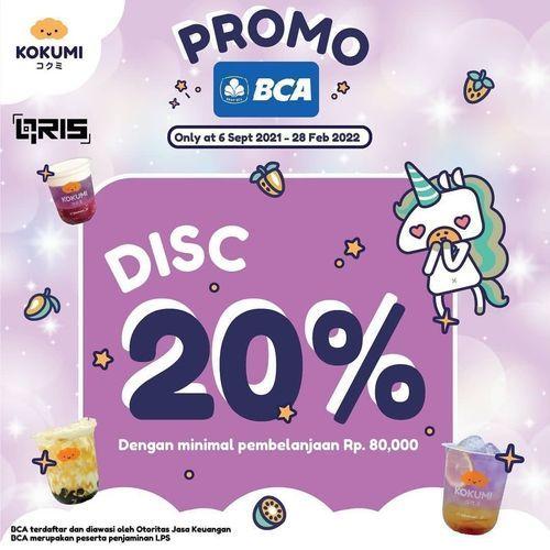 KOKUMI Promo BCA Disc. 20% (30927535) di Kota Jakarta Selatan