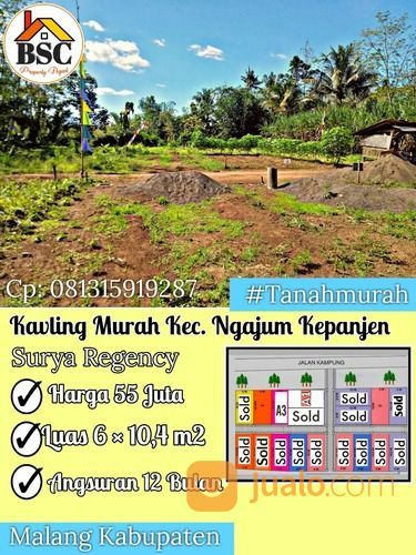Kavling Murah Siap Bangun Area Kepanjen (30969747) di Kab. Malang