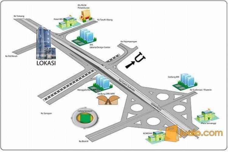 Apartemen GP Plaza Gatot Subroto Slipi, Jakarta PR1189 (3393597) di Kota Jakarta Barat