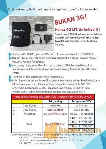 Layanan Data Internet Unlimited T-Roaming Untuk Wisata Ke Korea Selatan (3945143) di Kota Jakarta Selatan