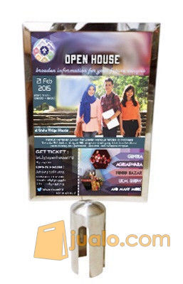 Signage Poster A4 Portrait (Frame Display Tiang Antrian)
