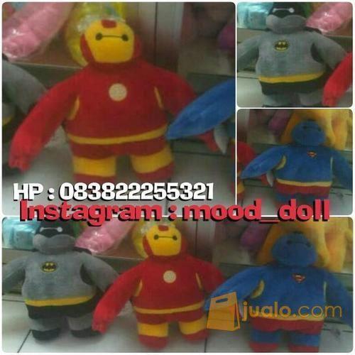 Boneka Baymax Big Hero Karakter Superhero Superman Batman & Ironman SNI (4104487) di Kota Jakarta Selatan