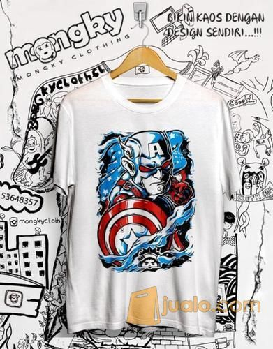 Kaos Captain Amerika 3d Keren Abis Banjarmasin Jualo