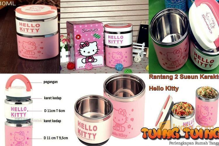 Rantang 2 Susun Karakter Hello Kitty (4801653) di Kab. Sidoarjo