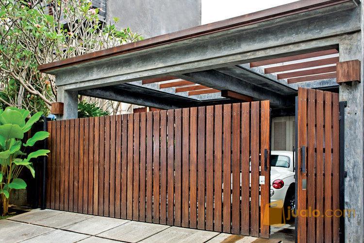 Pagar Besi Kombinasi Woodplank Atau Conwood | Kab. Gianyar | Jualo