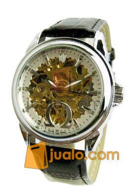 Jam tangan Otomatis omega transparan (white) leather (493383) di Jakarta
