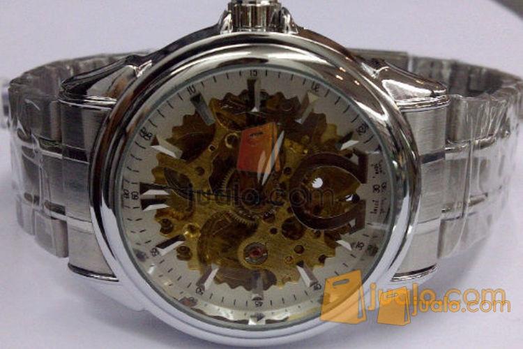 Jam tangan Otomatis skeleton omega (white) Rantai (493454) di Jakarta