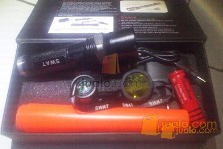 Senter police zoom Swat double lensa kuning (5 mode)/ Harga 1 pcs,tanpa minimal order (495729) di Jakarta
